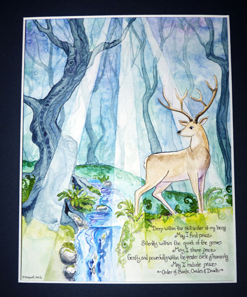 Druid's Peace Prayer: Stag and Forest Awen