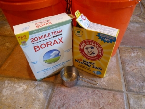 Borax and Arm and Hammer Super Washing Soda