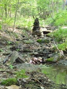Stack of stones in the woods