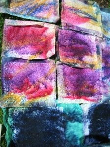 Dyed papers