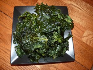 Finished Kale Chips....yum!