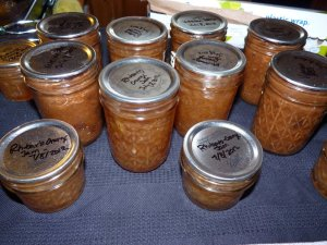 Canned Rhubarb (Jam and BBQ sauce)
