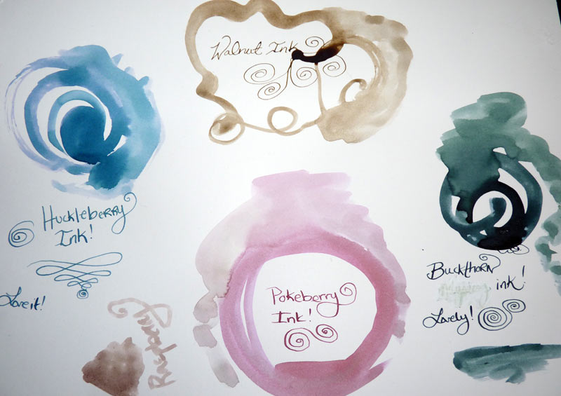 Making Berry Inks (Huckleberry, Raspberry, Blackberry