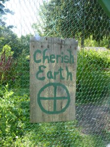 Cherish Earth Garden Sign