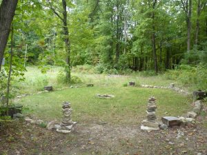 Our circle at Alban Elier / Fall Equinox - made with stone and wood
