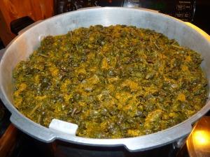 The dandelions in a huge pressure cooker