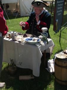 1750's military medicine demonstration