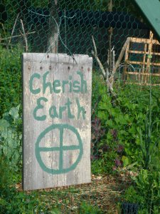 Cherish Earth Sign - made from old barn wood