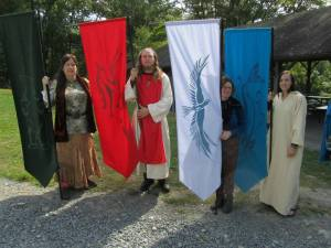 Ritual Banner Carriers! (Photo by John Beckett)