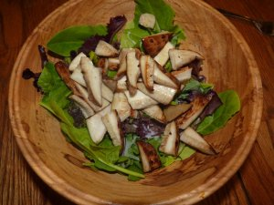 Awesome salad with Dryad's Saddle Mushrooms!