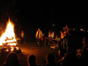 Druids around the fire at the latest OBOD East Coast Gathering (photo from John Beckett)
