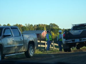 Enbridge Workers (out of state plates)