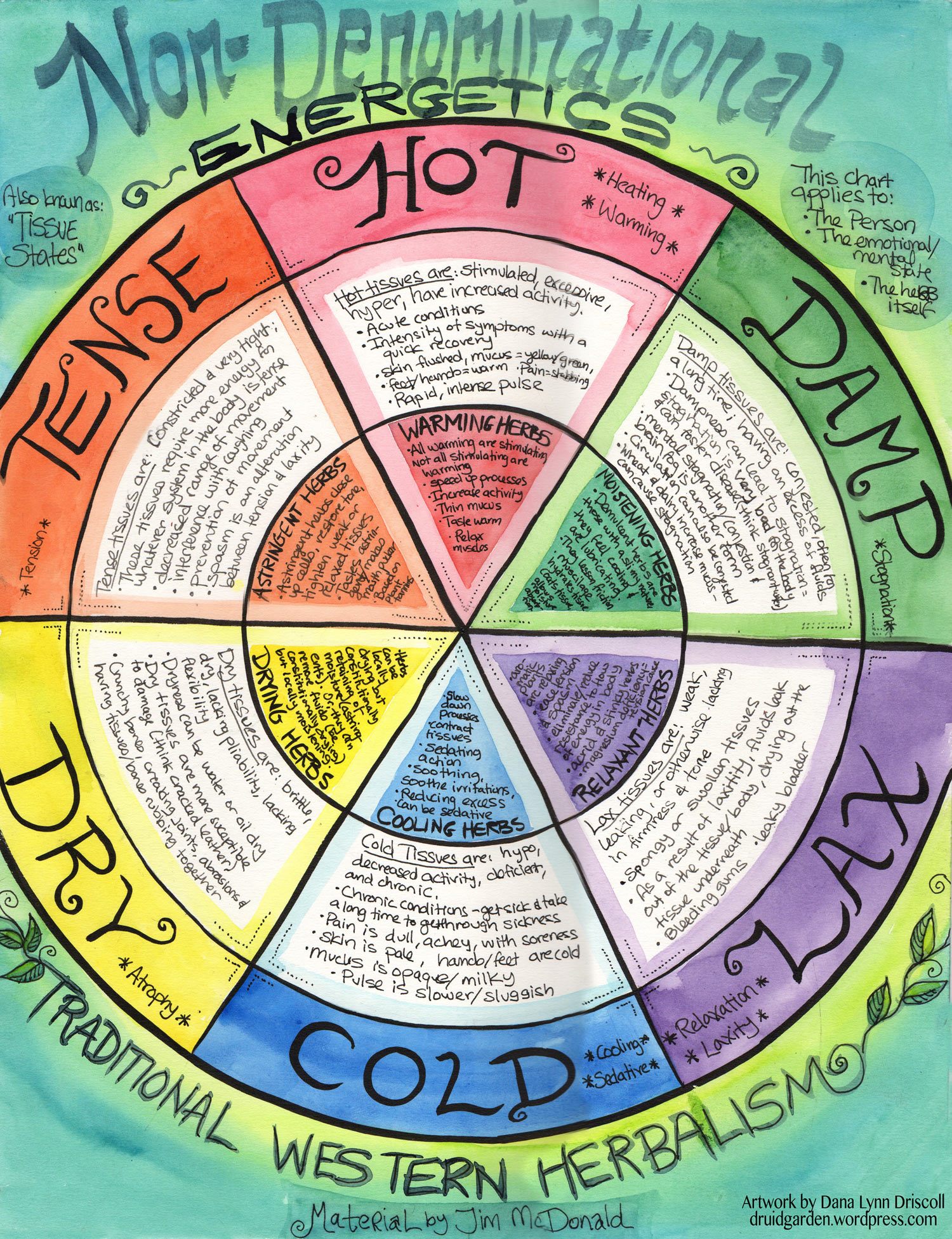 Energetics And Tissue States Wheel