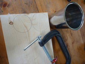Getting ready to cut circles