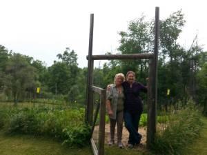 Dana and Linda at her farm!
