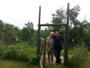 Dana and Linda at her farm!