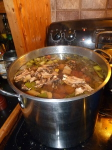 Stock pot with awesome ingredients