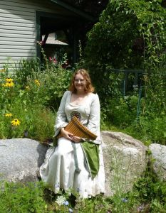 The druid and a sacred garden