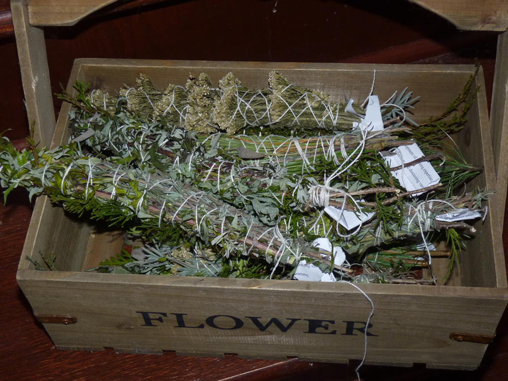 Making Smudge Sticks from Homegrown Plants and Wildharvested