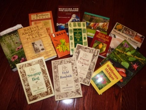 Just a few of the books that help build wildcrafting and foraging knowledge!