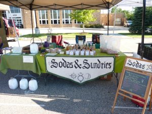 Sodas and Sundries Booth I shared with a friend.  Good times!