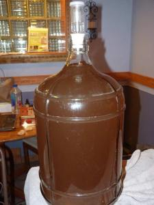 Dandelion Bitters Wine ready to bottle!