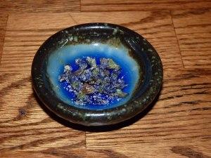 Violets in bowl!