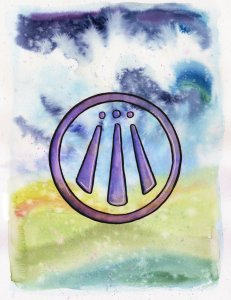 A simple awen painting