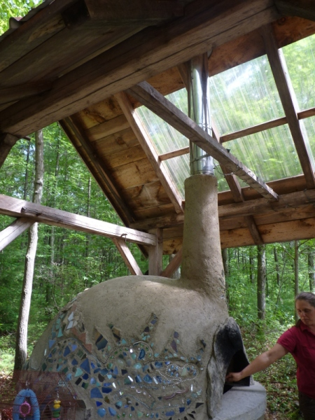 A cov oven at Sirius Ecovillage