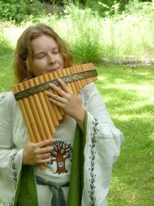 Me in my Michigan grove with my panflute
