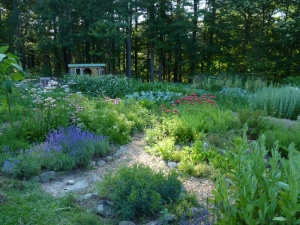 Shanti garden at Sirius Ecovillage