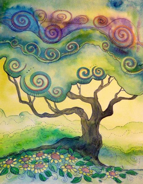 Joyful tree in Spring (by Artist Dana Driscoll)