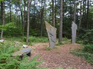 A stone circle at Sirius Ecovillage--these stones were set by the work of many hands