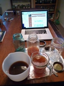 Mixing tincture and decoction- and using an online calculator to check my math!