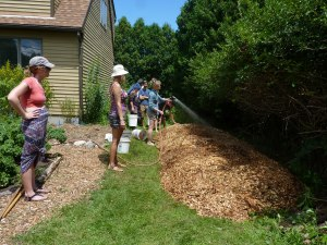 Completed sheet mulch!