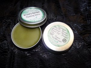 Healing Salve in Tins (tins purchased from Mountain Rose Herbs)