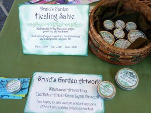 Healing Salve at Farmer's market booth