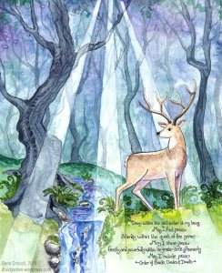 Druid's prayer for peace painting