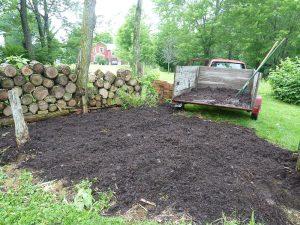 Adding compost