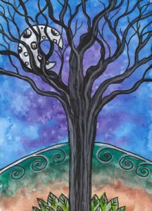The Inverted Tree (Hanged Man) from the Tarot of Trees