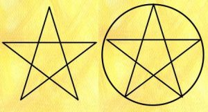Pentagram (left) and Pentacle (right)