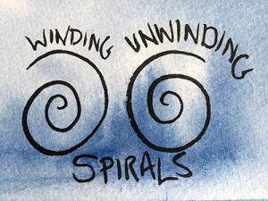 Some simple winding (sunwise) and unwinding (desoil) spirals