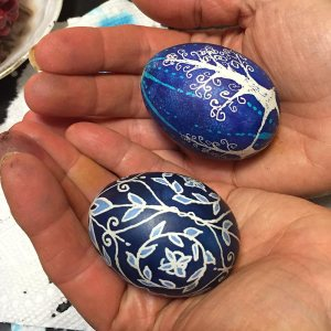 Pysanky eggs created in the family tradition