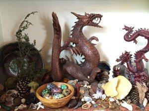 Altar with eggs
