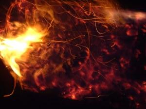 Fires burn