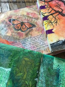Some journals that are mixed media/collage with spiritual themes...