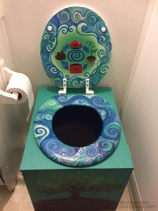 The Druid's Garden beautiful composting toilet! :)