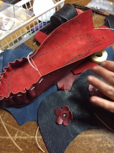 Making some loafers out of scraps of leather and old leather couches!
