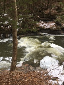 An incredible winter river near Schenectady, NY