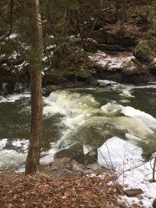 An incredible winter river near Schenectady, NY